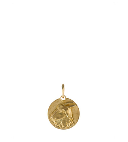 ANNOUSHKA Mythology Capricorn 18ct yellow-gold pendant