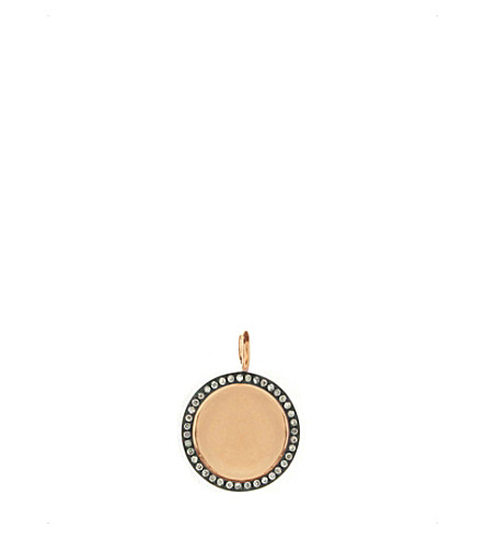 ANNOUSHKA Mythology 18ct rose-gold and pavé-diamond pendant