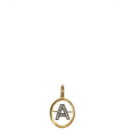 ANNOUSHKA 18ct yellow-gold and diamond A pendant