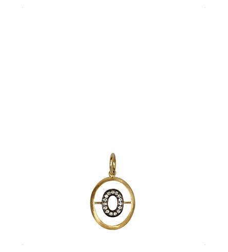 ANNOUSHKA 18ct 黄-金和钻石 O 挂件