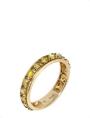 ANNOUSHKA Dusty Diamonds 18ct yellow-gold and diamond eternity ring