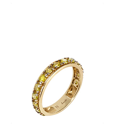 ANNOUSHKA Dusty Diamonds 18ct yellow-gold and diamond eternity ring