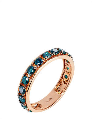 ANNOUSHKA Dusty Diamonds 18kt rose-gold and diamond eternity ring