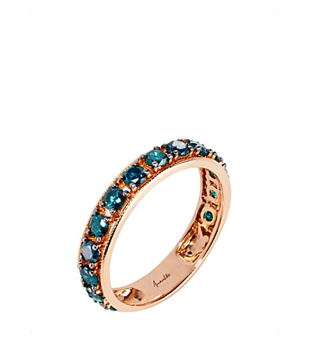 ANNOUSHKA尘土飞扬的钻石18ct 玫瑰黄金和钻石 Eternity 戒指