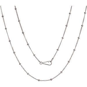 Classic saturn 18ct white-gold short chain