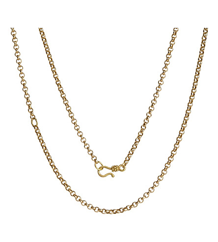 ANNOUSHKA Mythology 18ct yellow gold belcher chain