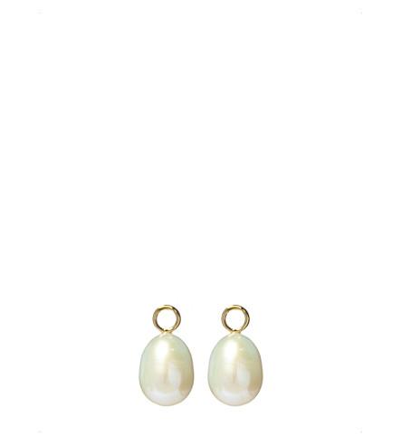 ANNOUSHKA经典巴洛克18ct 黄金和珍珠耳环滴