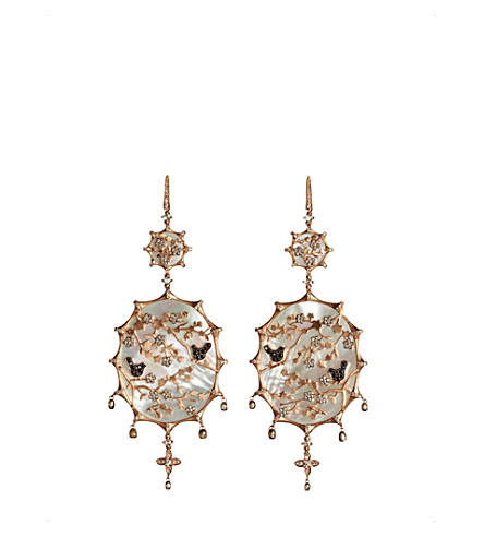 ANNOUSHKA Dream Catcher 18ct rose gold and diamond earrings