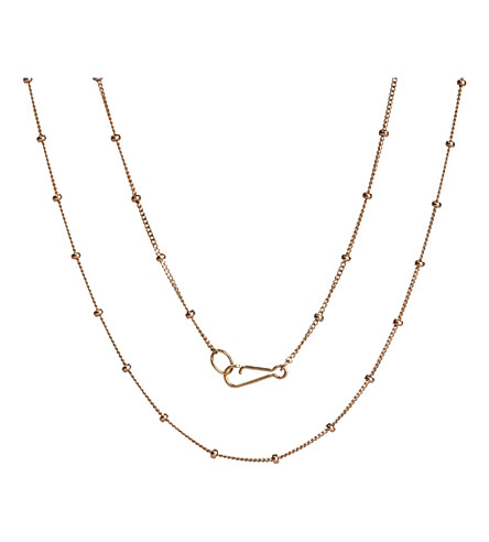ANNOUSHKA Saturn 18ct rose gold chain