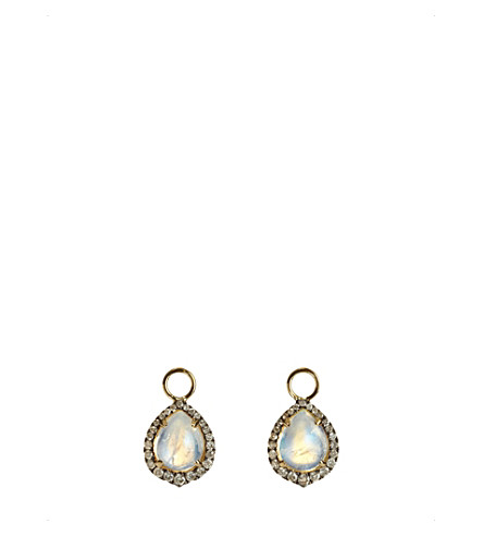 ANNOUSHKA Moonstone, 18ct yellow-gold and diamond earring drops