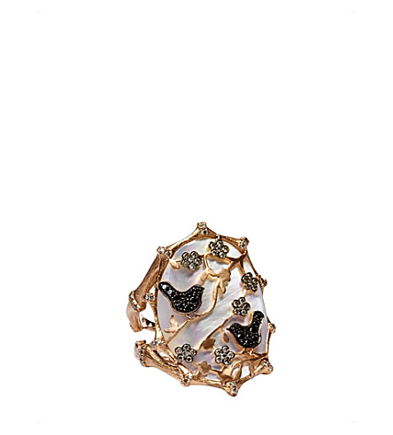 ANNOUSHKA Dream Catcher 18ct rose gold and diamond ring