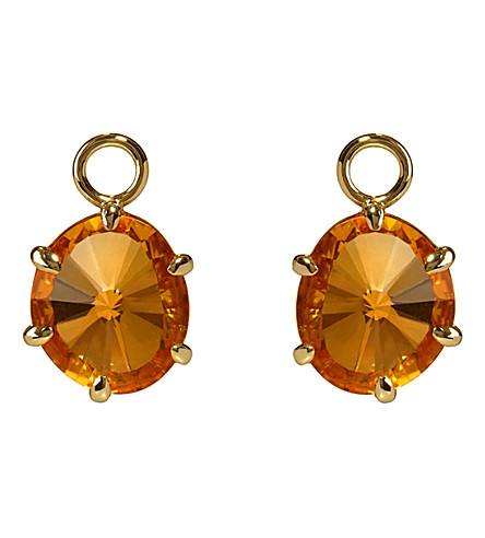 ANNOUSHKA 18ct yellow gold and citrine drops