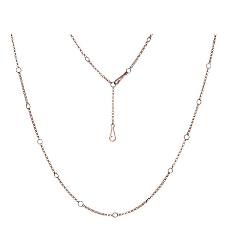 ANNOUSHKA Hoopla 18ct rose-gold chain