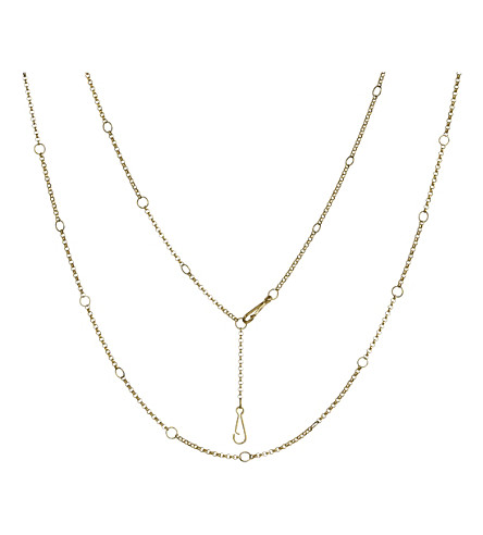 ANNOUSHKA Hoopla long 18ct yellow-gold long chain