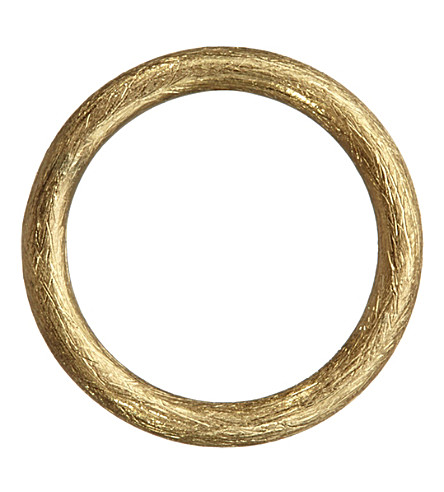 ANNOUSHKA Hoopla 18ct yellow-gold small hoop pendant