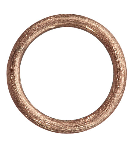 ANNOUSHKA Hoopla 18ct rose-gold small hoop pendant