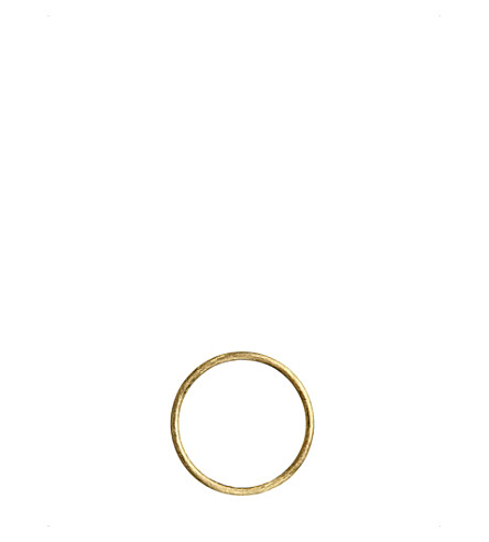 ANNOUSHKA Hoopla 18ct yellow-gold hoop pendant