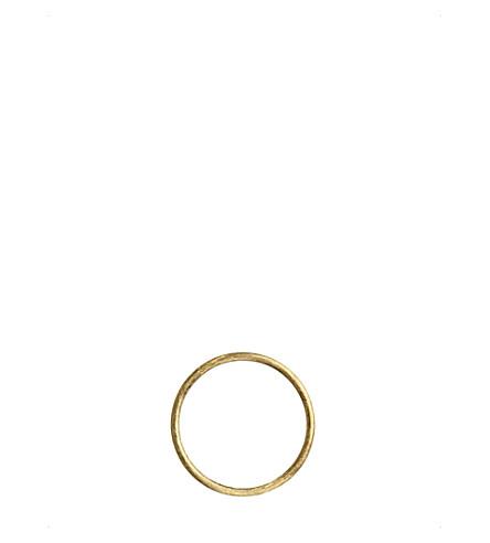 ANNOUSHKA18ct 黄色金色箍吊坠