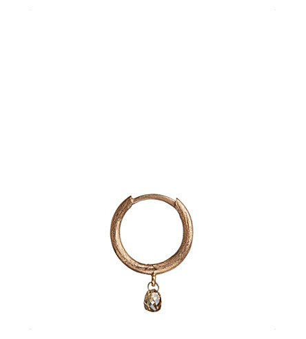 ANNOUSHKA Hoopla diamond 18ct rose-gold hoop earring