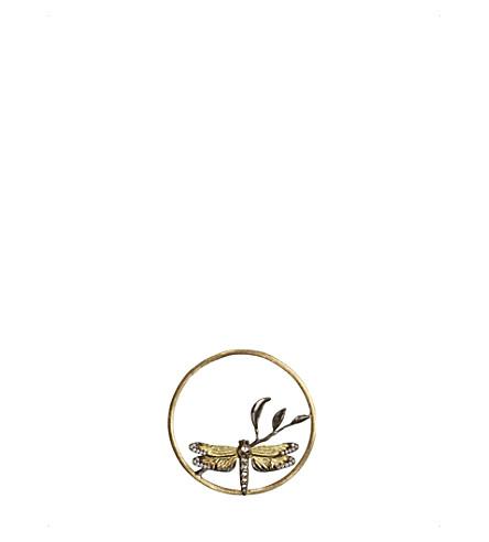 ANNOUSHKA喧嚣蜻蜓钻石18ct 玫瑰金色吊坠