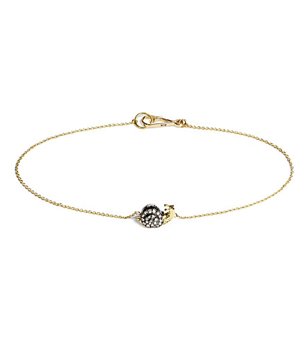 ANNOUSHKA Love Diamonds Snail 18ct gold bracelet