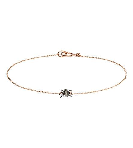 ANNOUSHKA Love Diamonds Spider 18ct rose-gold bracelet