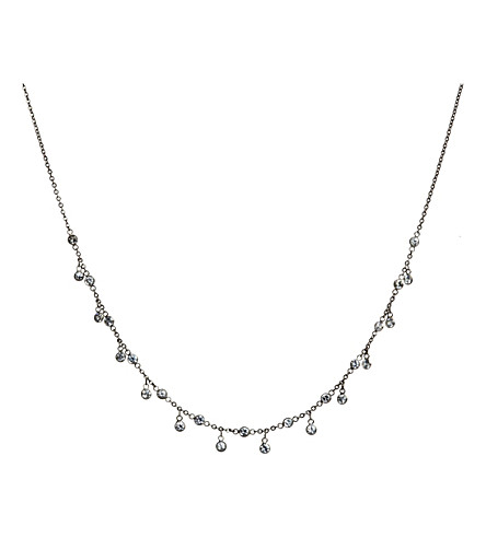 ANNOUSHKA Nectar Night Jasmine 18ct white gold and white sapphire necklace