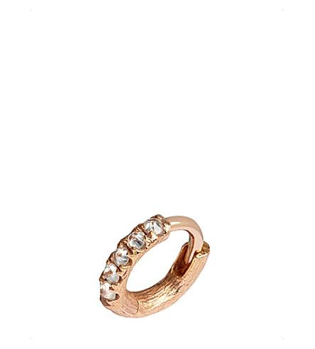 ANNOUSHKA Dusty Diamonds 18ct rose gold and diamond earring