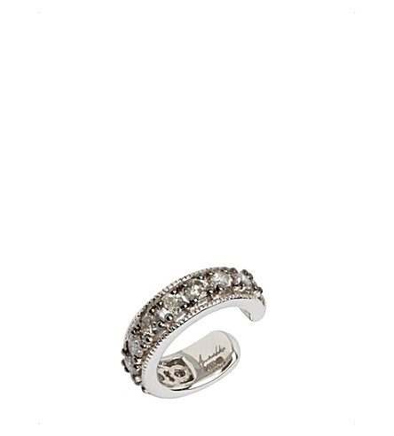 ANNOUSHKA Dusty Diamonds 18ct white gold and grey diamond ear cuff