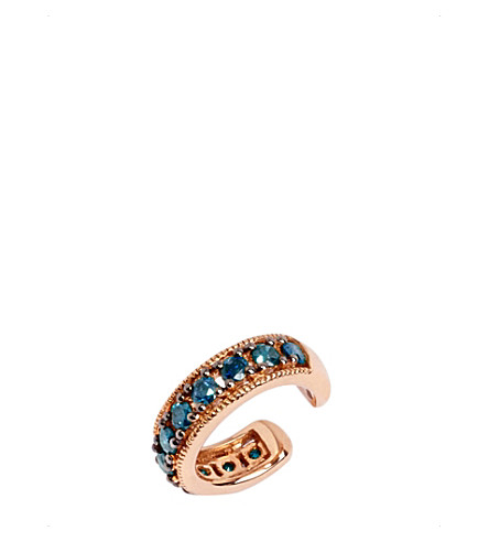 ANNOUSHKA Dusty Diamonds 18ct rose gold and blue diamond ear cuff