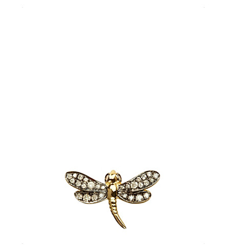 ANNOUSHKA Love diamonds dragonfly right earring
