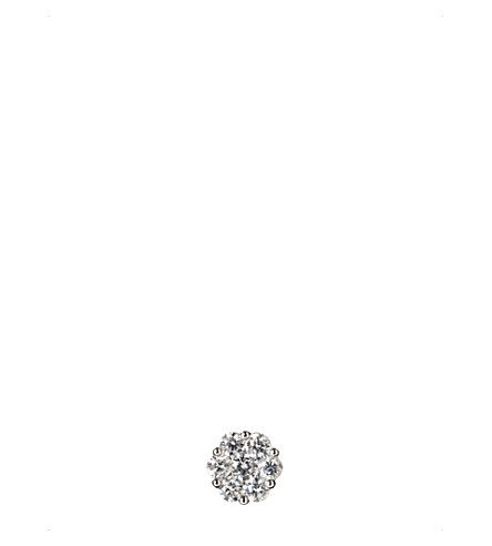 ANNOUSHKA 18ct white gold and diamond daisy earring
