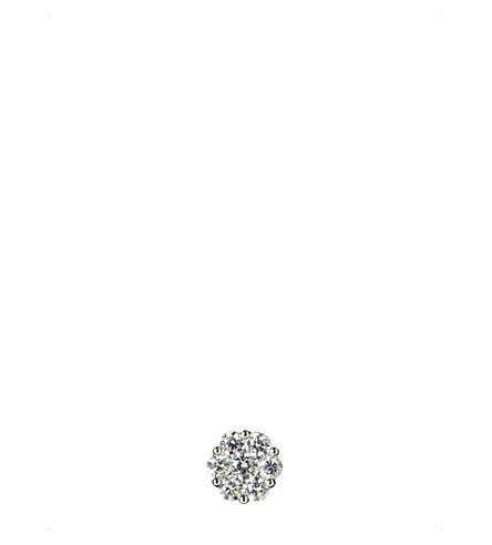 ANNOUSHKA 18ct white gold and diamond diasy earring