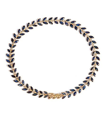 ANNOUSHKA Sapphire Vine 18ct gold and sapphire bracelet
