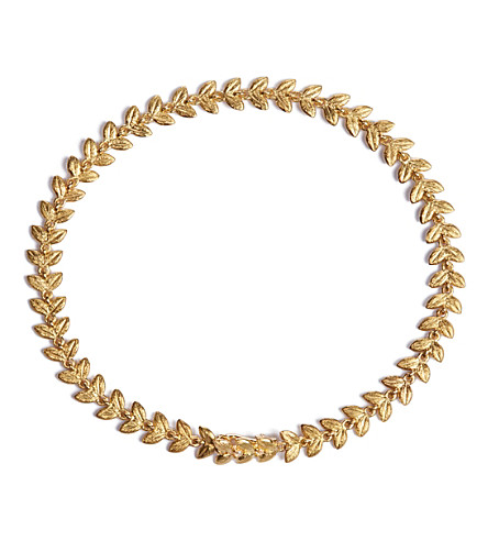 ANNOUSHKA Vine 18ct gold and diamond bracelet