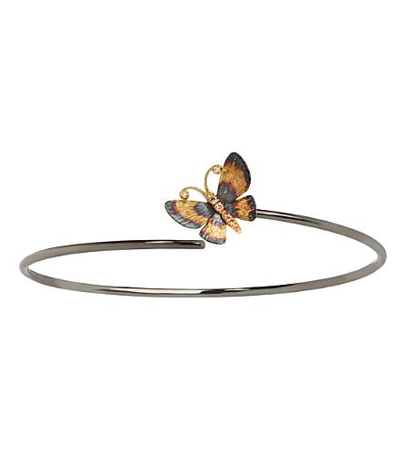 ANNOUSHKA Butterfly 18ct Gold Bangle