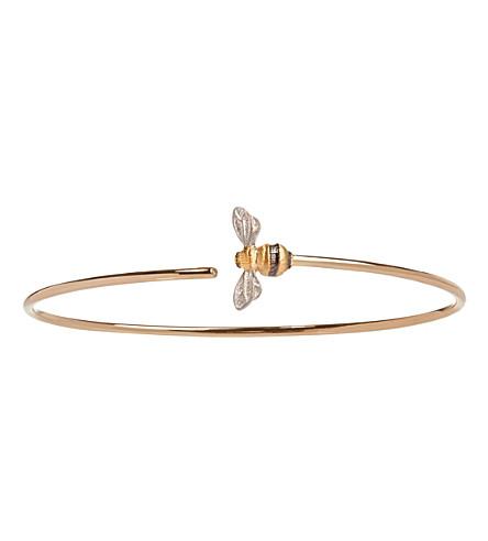 ANNOUSHKA蜂18ct 黄金钻石手镯