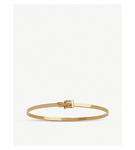 ANNOUSHKA 18ct gold belt bangle