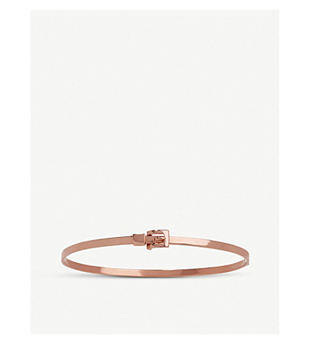 ANNOUSHKA 18ct rose-gold belt bangle