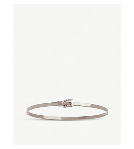 ANNOUSHKA 18ct white-gold belt bangle