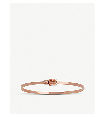 ANNOUSHKA 18ct rose-gold diamond belt bangle