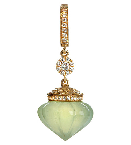ANNOUSHKA Touch Wood 18ct yellow gold, diamond and prehnite charm