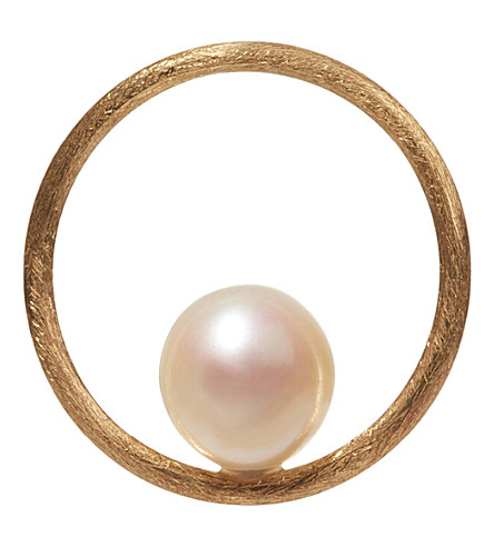 ANNOUSHKA Hoopla pearl 18ct yellow-gold pendant