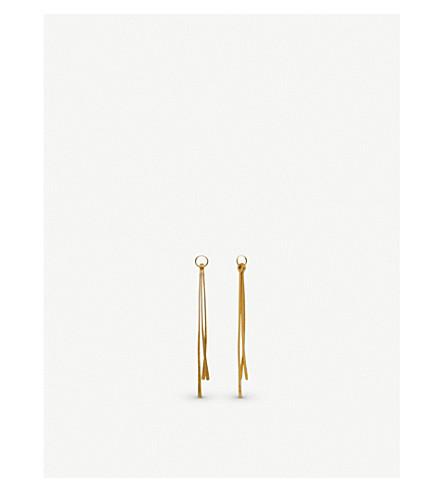 ANNOUSHKA Pine 18ct yellow gold earring drops
