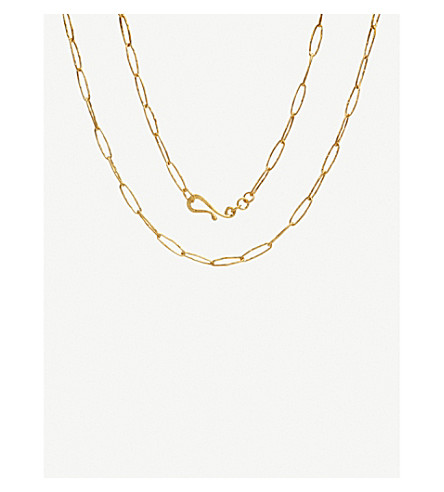 ANNOUSHKA Organza 18ct yellow-gold charm necklace