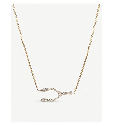 ANNOUSHKA Wishbone Love Diamonds 18ct bi-gold and diamond necklace