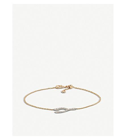 ANNOUSHKA Wishbone Love Diamonds 18ct bi-gold and diamond bracelet