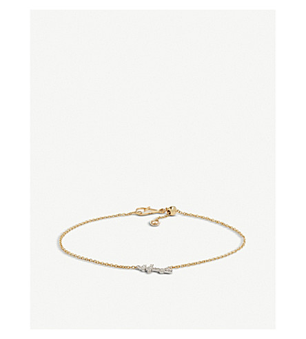 ANNOUSHKA Cross Love Diamonds 18ct bi-gold and diamond bracelet