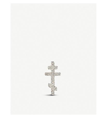 ANNOUSHKA Cross Love Diamonds 18ct white gold and diamond single stud earring