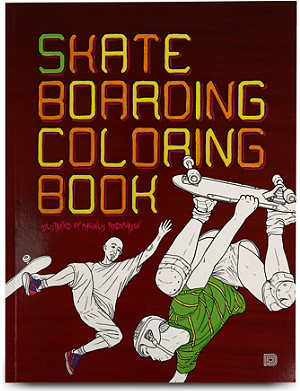 BOOKSHOP Skateboarding Colouring Book by Magnus Fredriksen